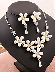 Jewelry Set Women's Anniversary / Wedding / Engagement / Party / Special Occasion Jewelry Sets Imitation Pearl / RhinestonePearl /