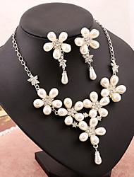 Ensemble de bijoux Femme Anniversaire / Mariage / Fiançailles / Sorée / Occasion spéciale Parures Imitation de perle / Stras Perle / Stras