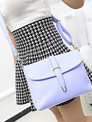 Women's PU Leather Candy Color Messenger Bag