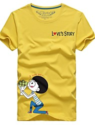 Man couple with the summer short sleeve T-shirt sweet couples marry # 014