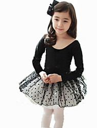 Ballet Dresses Women's Performance/Training Cotton Black Kids Dance Costumes