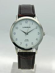 caixa da liga analógico dos homens rodada discar pu banda relógio de quartzo chinês dos homens homens relógio relógio negócio relógio de