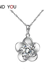 Couples'/Women's Cubic Zirconia/Alloy/Rhinestone Necklace Birthday/Gift/Party/Daily/Causal/Office & Career/Outdoor