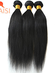 "3Pcs/Lot 8""-28"" Unprocessed Brazilian Virgin Hair Natural Black Straight Human Hair Weave"