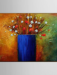 Oil Painting Flower Knife Living Hand Painted Canvas with Stretched Framed