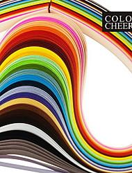 120pcs 3mmx53cm quilling di carta (24 pz x5 colore / colore) mestiere diy decorazione di arte