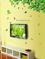 estilo decalques adesivos de parede parede parede pvc árvore fresco adesivos