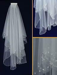 Wedding Veil Two-tier Elbow Veils Scalloped Edge