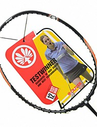 Men/Unisex/Women/Kids Badminton Rackets Low Windage/High Elasticity/Durable Orange 1 Piece Carbon Fiber