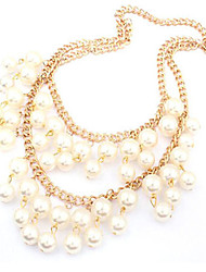 New Arrival Fashional Hot Selling Delicate High Quality Double Pearl Necklace
