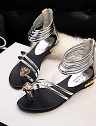 DOPO Women's Shoes Gold/Silver Flat Heel Sandals