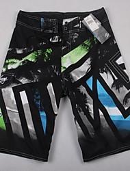 Совет по поиску шорты мужские черно-белые полосатые Boardshorts пляжные шорты пляжные брюки купальники человека S / M / L / XL / XXL
