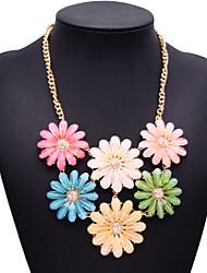 Fashion jewelry shourouk宝石拼接项链