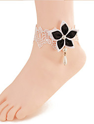 Women Fashion Body Jewelry Gothic Style Charm Vintage Lace Bauhinia Flower Anklets