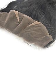 """Natural Black indien dentelle de cheveux humains cheveux frontale toppers 4x13 """"droite 10"""" -20 """""""