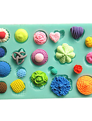 Button Fastener Fondant Cake Molds Chocolate Mould For The Kitchen Baking Clay Mold Sugarcraft Decoration Tool