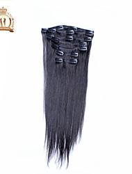 "12 ""-20"" indian virgin hair straight clip in human hair extensions beschikbaar 7pcs"
