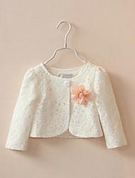 Kids Wraps Long Sleeve Lace/Polyester Sweet Party/Casual Boleros White/Pink Bolero Shrug