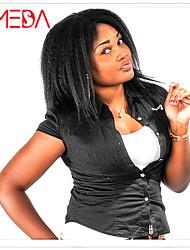Women Brazilian Virgin Hair Color(#1 #1B #2 #4) Kinky Straight Hair Lace Front Wigs