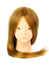 Heat Resistant Synthetic Hair Salon Female Mannequin Head No Make-up