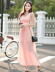 Women's Sexy / Beach Dress Maxi Chiffon