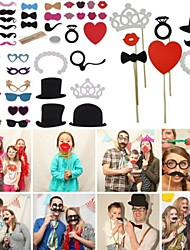 Wedding Décor 44pcs/set Hot DIY Masks Photo Booth Props Mustache On A Stick  Birthday Party