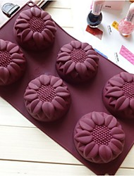 Fashion Cake Decorating Tools Silicone Cake Mold Ice Soap Jelly Making Mould Kitchen Bakeware Tools (Random Color)