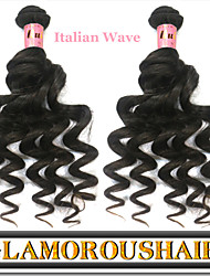 "3Pcs/Lot 12""-34"" Unprocessed Vietnamese Virgin Remy Hair Italian Wave Human Hair Extension"