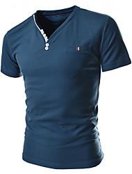Man's V-neck Short Sleeve T-Shirt
