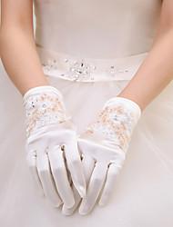 Satin/Lace Wrist Length Wedding/Party Glove