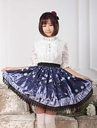 Blue Sweet  Lolita  Snowy Night Castle Skirt Lovely Cosplay
