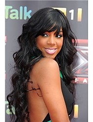 Lace Front Wig Soft Brazilian hair Front lace wig Natural black Body Wavy about 14- 24inches Free Shipping