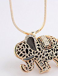 New Arrival Fashional Rhinestone Drip Elephant Necklace