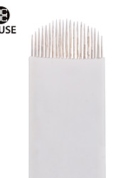 CHUSE™ A21  50pcs Permanent Makeup Manual Eyebrow Tattoo Needle Embroidery Arc Blade 21 Curved Needles
