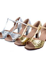 Customizable Women's Latin/Salsa Satin Dance Shoes 2 Colors
