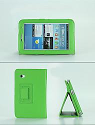 Mode PU-Leder-Kastenabdeckung Standplatz für Samsung-Galaxie Tabtab 2 7.0 (P3100 / P3110) Tablette Multi-Color-