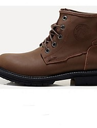 Men's Shoes Casual Leather Boots Black/Brown