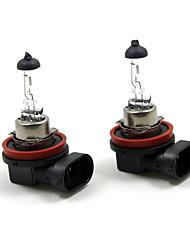 TIROL 2pcs Auto Headlight Bulbs Headlamp Bulbs Halogen H11 12V 100W Super White 3000K