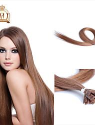"22""inch Flat Tip Brazilian Virgin Hair Straight Human Hair Color #10"