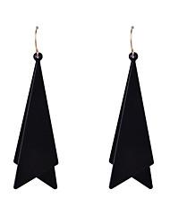 Fashion Women Painted Triangle Metal Disc Drop Earrings