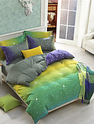 Neuartig Polyester / Baumwolle 4 Stück Bettbezug-Sets