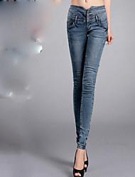 Women's Lycra Hip High Waist Jeans