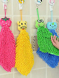 Cute Cartoon Hanging Wipe Hand Cloth (Random Color)