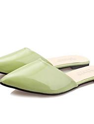Cheap summer Women's Shoes Green/Purple/Red/White Flat Heel 0-3cm Slippers (Rubber)