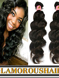 "3Pcs/Lot 8""-34"" Unprocessed Raw Cambodian Virgin Hair Natural Wave Color 1b Human Hair Weave/Weft Bundles"