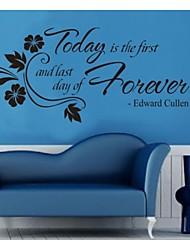 сегодня первый домашний декор цитатой наклейки на стены декоративные zooyoo8063 ADESIVO де Parede Съемный стикер стены