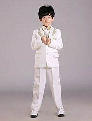 Uniform Cloth Ring Bearer Suit - 6 Pieces Includes  Jacket / Shirt / Vest / Pants / Waist cummerbund / Bow Tie