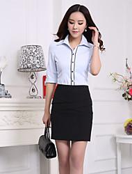 Overhemdkraag - Katoenmixen Vrouwen - Overhemd - Halflange mouw
