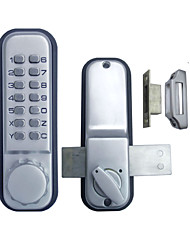 Double Door Glass Door Mechanial Keyless Pushbutton Door Lock