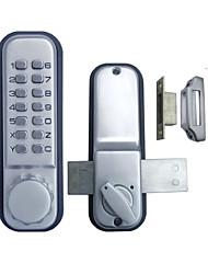 porta de vidro porta dupla tecla keyless fechadura da porta mechanial